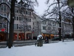 Rosenheim Muenchener Strasse in winter season