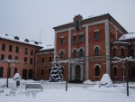 Rosenheim townhall in winter season