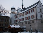 Rosenheim city museum in winter season